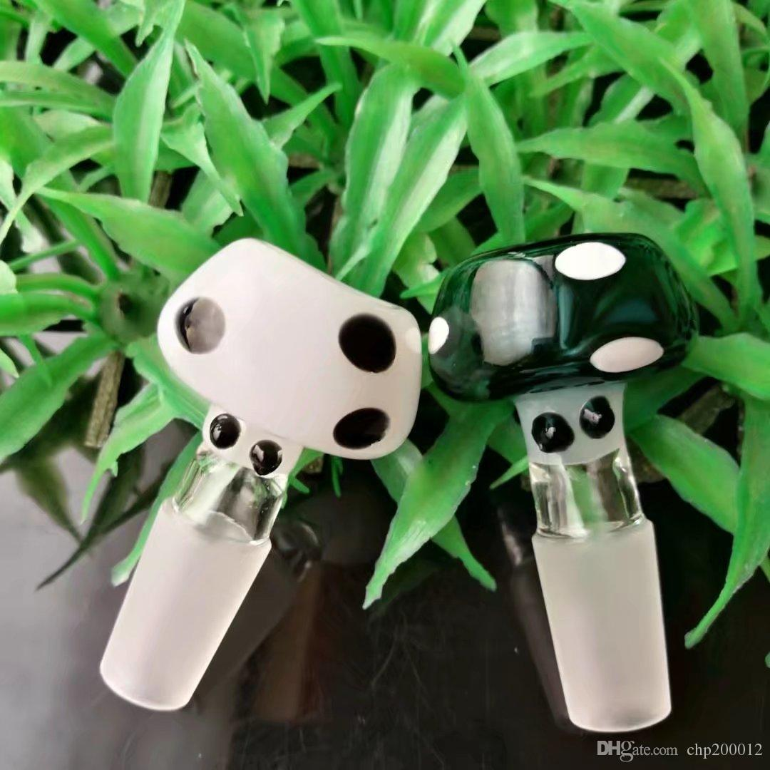 Color point mushroom bubble head  , Wholesale Glass Bongs Accessories, Glass Water Pipe Smoking,