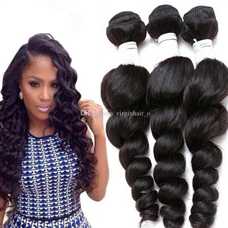 Cheap Human Hair Weave Brazilian Hair Loose Wave Mixed Lengths 3