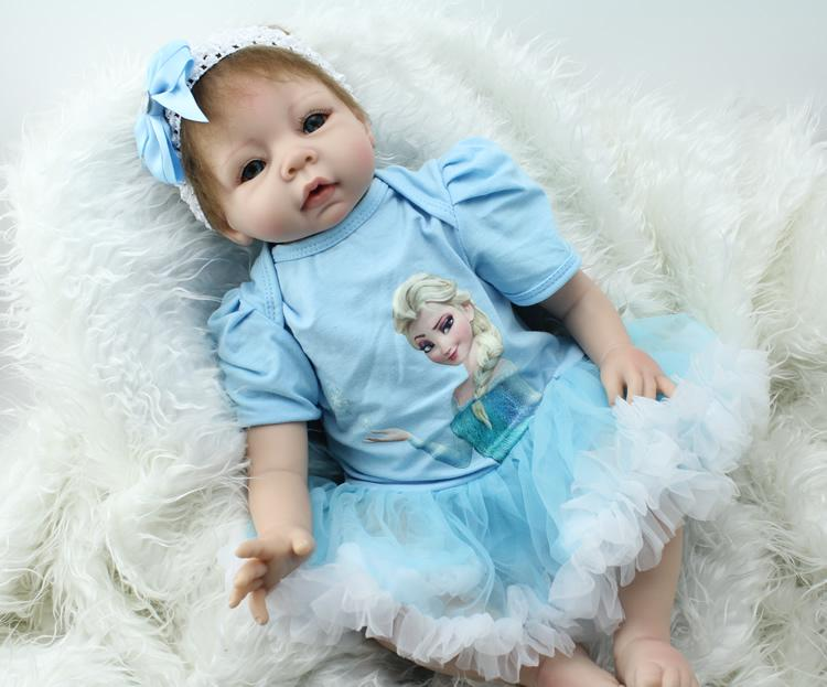 S Birthday Gift For 3 Year Old Girl Soft Vinyl Doll Reborn 22 Inch Baby Dolls Lifelike Interactive Silicone Toy 12 18