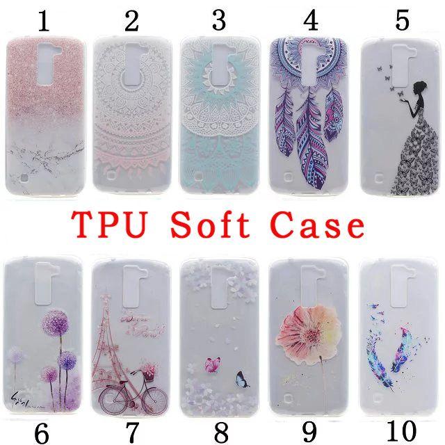Flower Mandala TPU Soft Case For LG K8 Samsung Galaxy J3 2017 J5 J7 NOTE 5 7 Grand Prime G530 Core G360 Marble Cartoon Butterfly Skin Cover