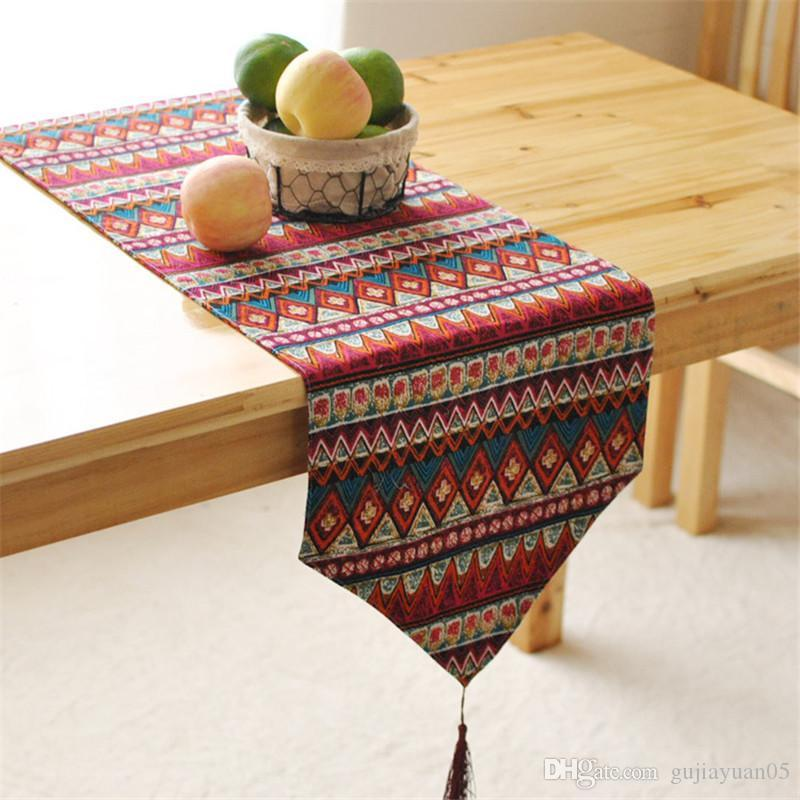 Bz387 Southeast Asian Style Double Table Runner Desk Flag Bed Table And  Home Textile Fabric Original Article Patterns For Table Runners  Personalized Table ...