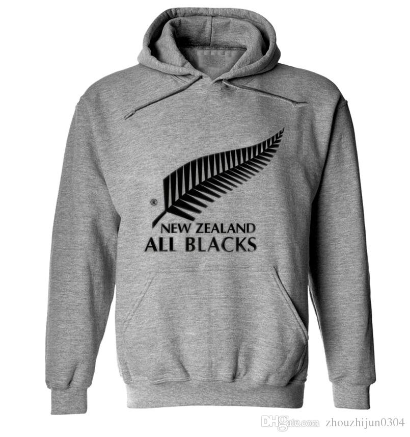 2018 New Zealand All Blacks Men'S Hooded Sweater Printing Casual ...