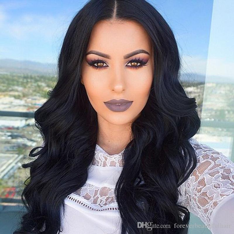 Celebrity style Unprocessed Body Wave Human Hair Wigs With Baby Hair Full Lace Indian Human Hair Wigs Indian Lace Front Wigs