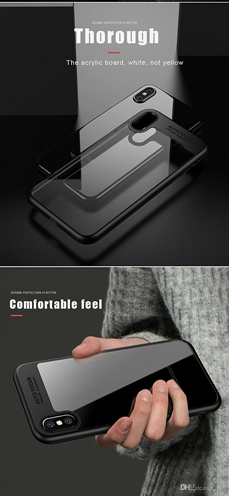 High Quality For iPhone 8 Plus iPhone X Phone Case Back Cover Case TPU Clear Shockproof Case Phone Protector for Iphone 8