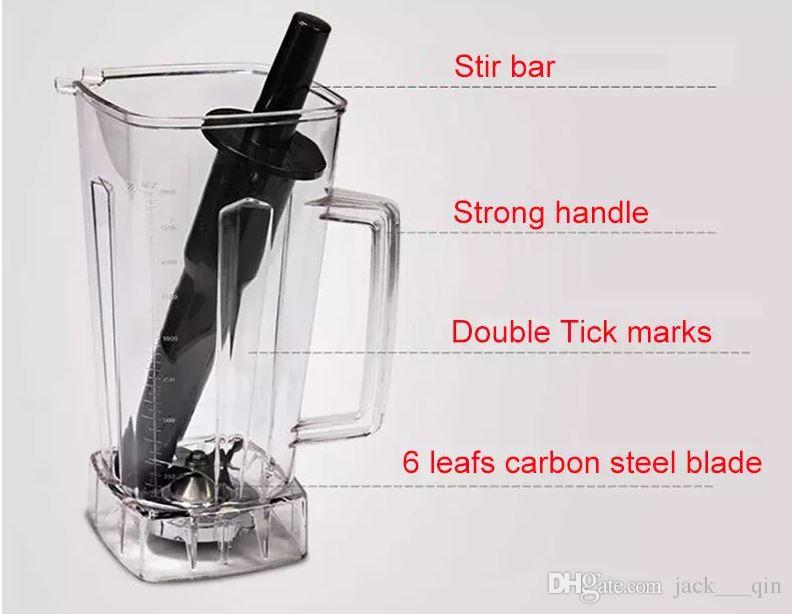 commercial 2L electric ice smoothie maker making machine juice food blender juicer ice crushing juice blending machine