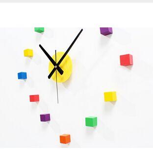 Оригинальные Приглушенные красочные Краткие наклейки Настенные Часы, Творческий DIY Спальня Гостиная Стена Стикер Часы Часы, Симпатичные Украшения Дома