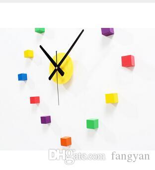 Reloj de pared Brezo Brezo Brezo de colorido MUTED ORIGINAL, Dormitorio creativo Dormitorio Sala de estar Etiqueta de pared Reloj de reloj, decoración para el hogar lindo
