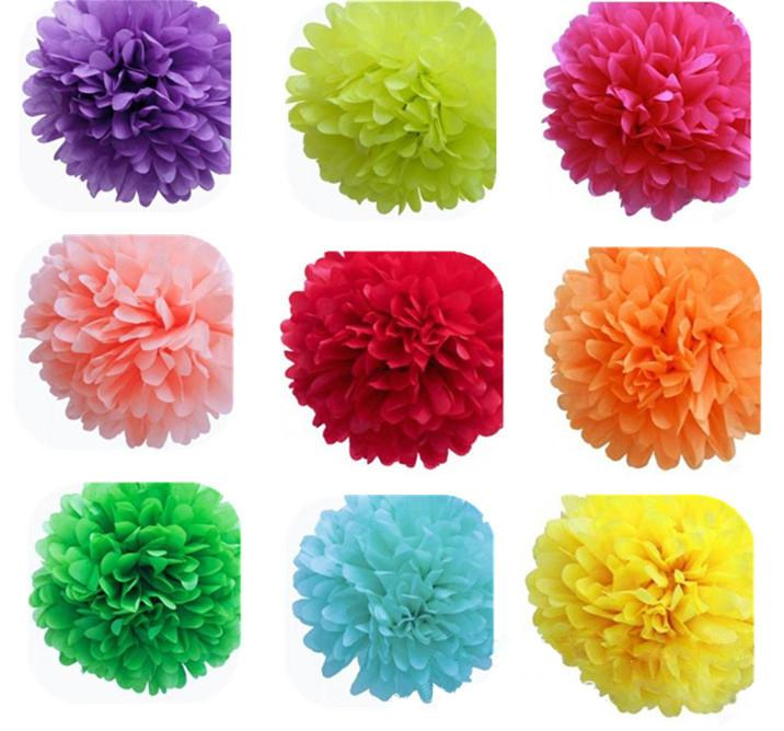 Party Decoration Wedding Party's Xmas Home Outdoor Decor Tissue Paper Pom Poms Flower Balls Wedding Paper Flower Ball Origami Producti