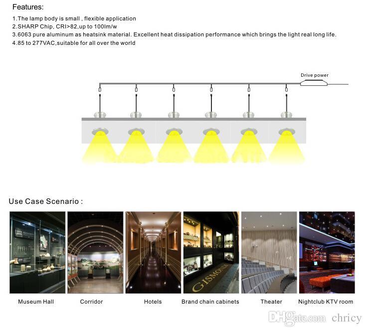 LED MINI Downlight Bridgelux Chip Wasserdicht IP65 IIsolation Treiber Dimmbare LED Kabinett Licht 3 Watt Mini Lampe 6 teile / satz Neues Design