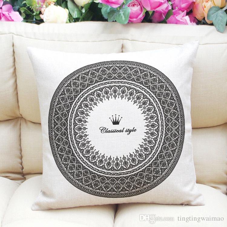 Padrão minimalista linho travesseiro de linho travesseiro capa de almofada travesseiro headboard personalizado
