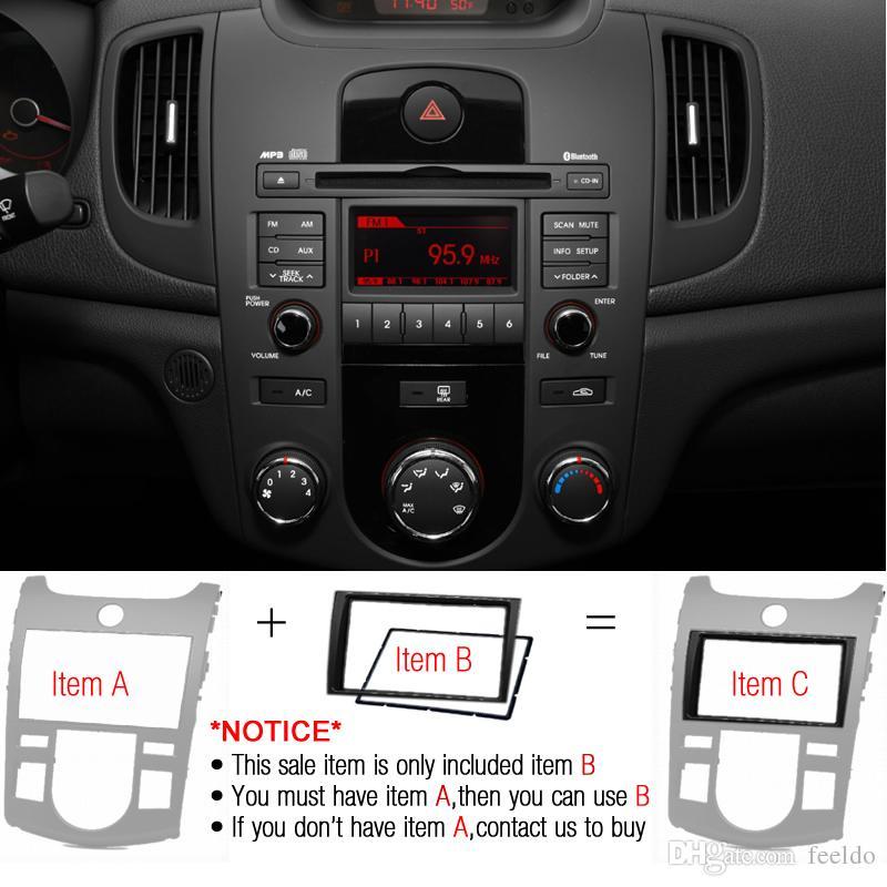 FEELDO Автомобильный 2DIN Радио Стерео Лицевая панель Рамка Монтажный комплект переходника для Kia Forte / Cerato / Naza Forte # 5187