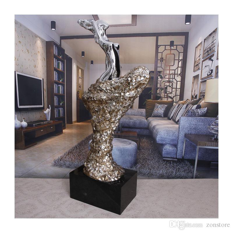 Abstract Art Sculpture Crafts Artwork Hotel Clubs Statue Decoration Sculpture Crafts with Resin Plating for Home Accessories