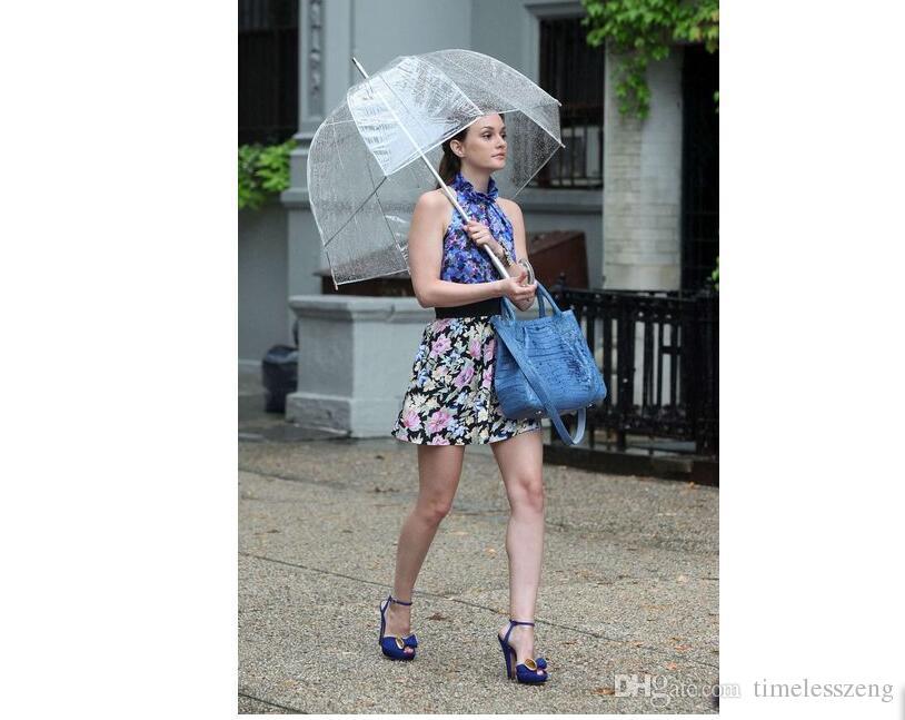 Simplicité élégante bulle profonde dôme parapluie Apollo Transparent Umbrella Umbrella fille champignon clair bullé Livraison gratuite