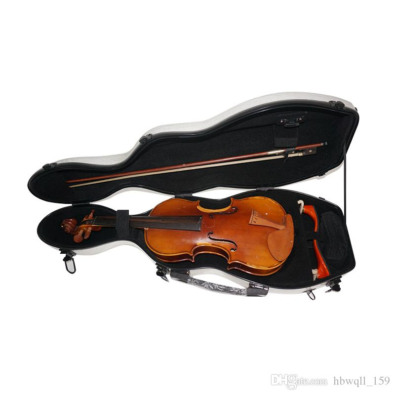 4/4 white composite carbon fiber violin case can only be fitted with a violin