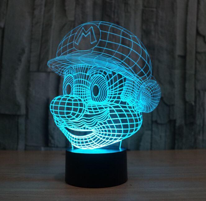 2018 Novelty Lighting Super Mario Bros Table Desk Lamp Touch Sensor 3d Led  Bulb Nightlight Atmosphere Decor Lamp For Kids Bedroom From Home2010garden,  ...
