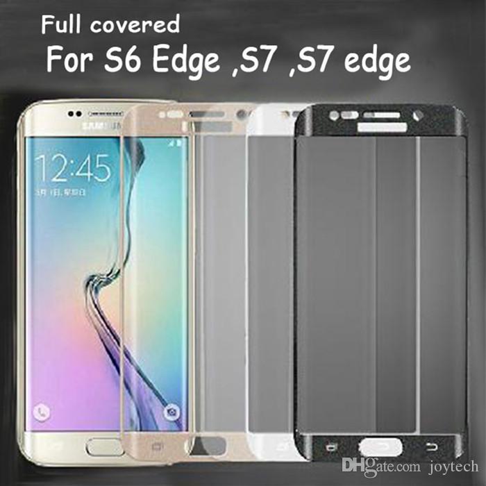 Samsung Galaxy 7 Edge S6 S6edge oltre a protezione totale Clear Clear TPU protezione dello schermo con confezione al dettaglio in vetro non temperato