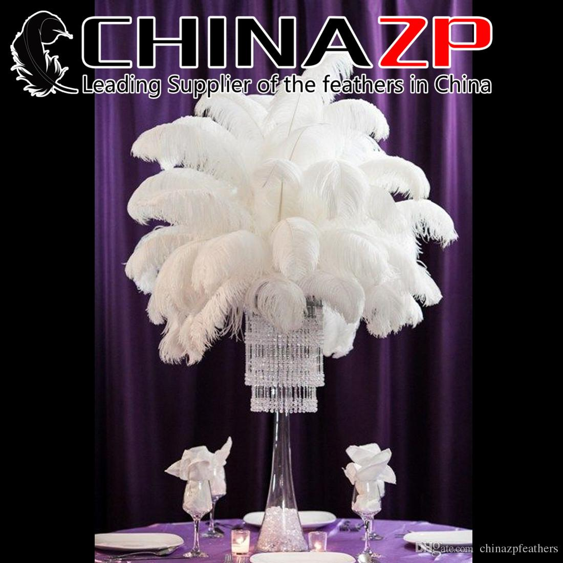CHINAZP Factory 10 colors Hot Sell 20-25cm(8inch~10inch) DIY Ostrich Bulk Feather Plumes for Wedding centerpiece table centerpiece
