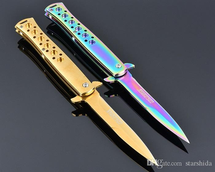 Multicolor TAC Force TF884 Tactical Folding Knife 440C 57HRC Camping Hunting Survival Pocket Utility Clasp EDC Diving Knife Man Collection