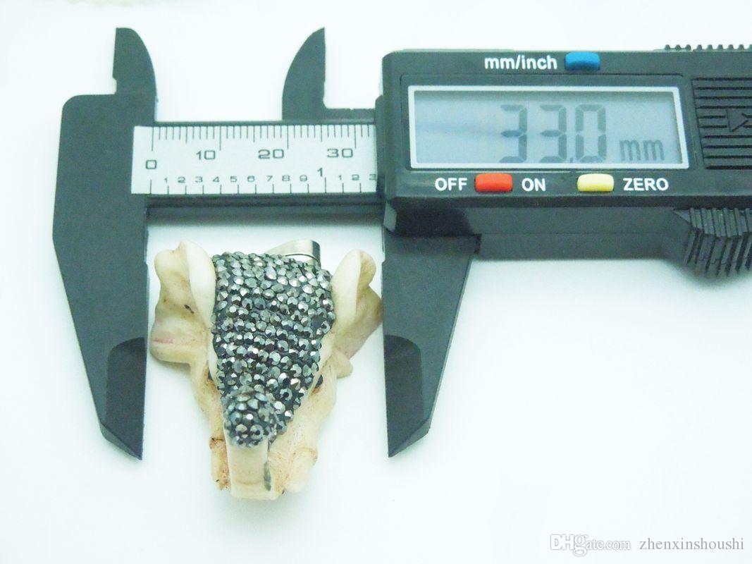 Resin elephant Pendant ,elephant head with Crystal Zircon Gemstone Paved, elephant head jewelry finding