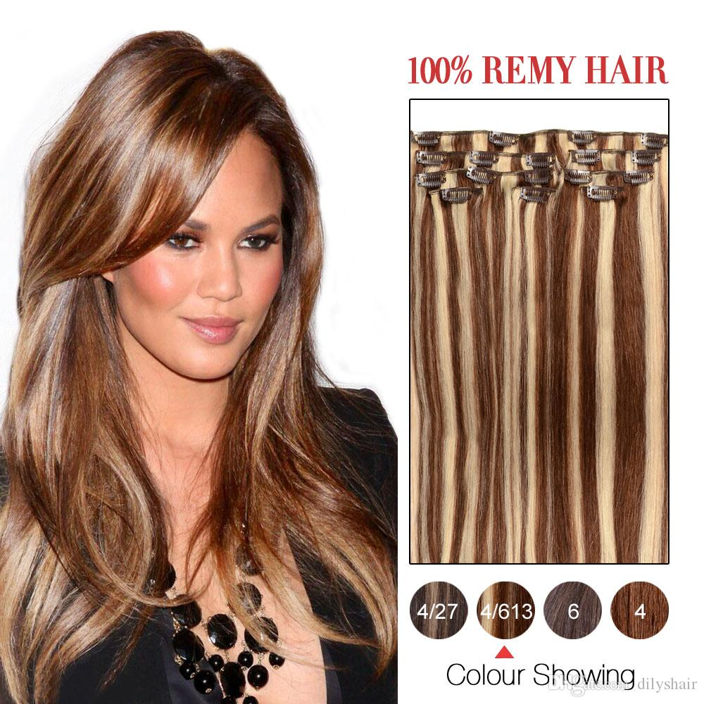70g 100g brazilian hair clip in extensions clip in brazilian hair see larger image pmusecretfo Images