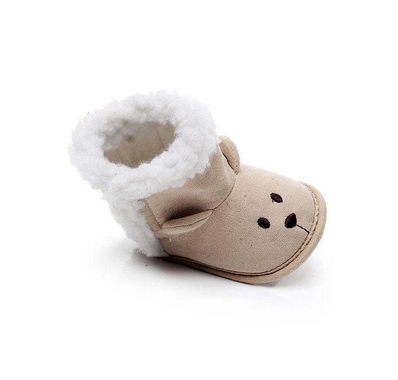 INS Scarpe invernali bambini Cartoni animati bambini Cute Prewalker Baby Boots Scarpe Newborn Animal First Walker Snow Shoes