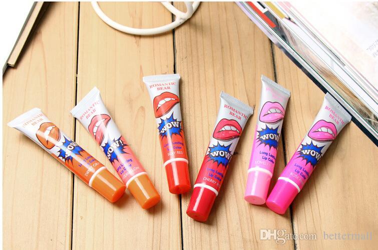 Drop shipping Waterproof Lips Gloss Romantic Bear liquid lipsticks TATTOO Magic Peel Off Mask Tint Long Lasting Lips Cosmetics