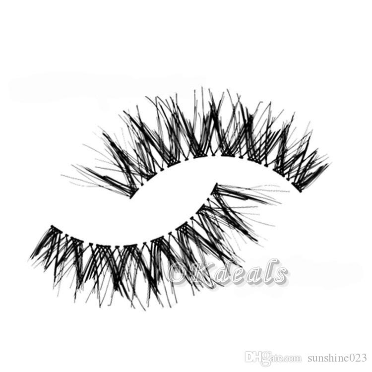Venta caliente 5 Pares Nueva Mujer Dama Natural Suave Negro Fake Eye Lashes Handmade Grueso Fake Falso Pestañas Herramientas de maquillaje