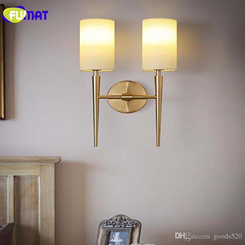 0eb0104c5ce3 FUMAT Modern Wall Lamps LED for Bedroom Bedside Light Fabric Sconces ...