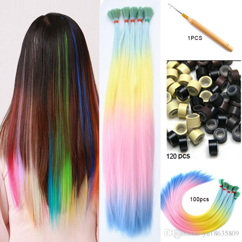 20 Four Tone Ombre Blue Color Lady Diy Grizzly Rooster Stripe Loop