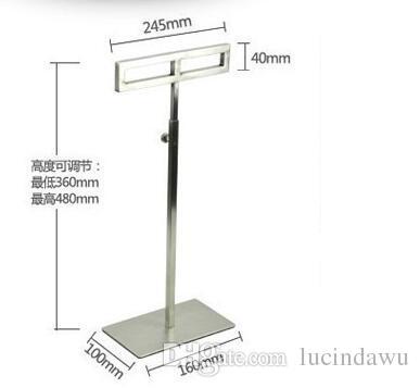 Stainless Steel Scarf Display Holder Tie Scarf Stand Scarves Display Rack Holder