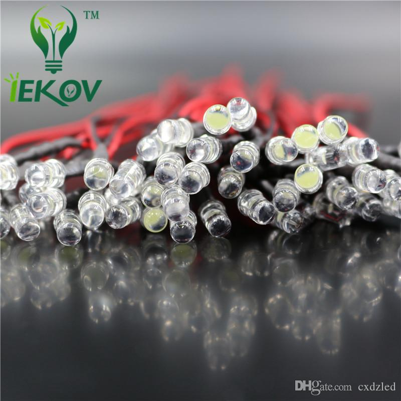 LED 5MM Pre-Wired Resistor Slow RGB Flash Red Green Blue 12V DC 20cm Rainbow MultiColor Round Strobe Emitting Diode DIY Wholesale