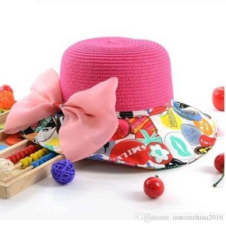 Fashion Crochet Hats 2016 Beautiful And Best Use Girl Caps Summer And Winter Pink Children's Sunny Caps Popular European Beach Hat A20150011