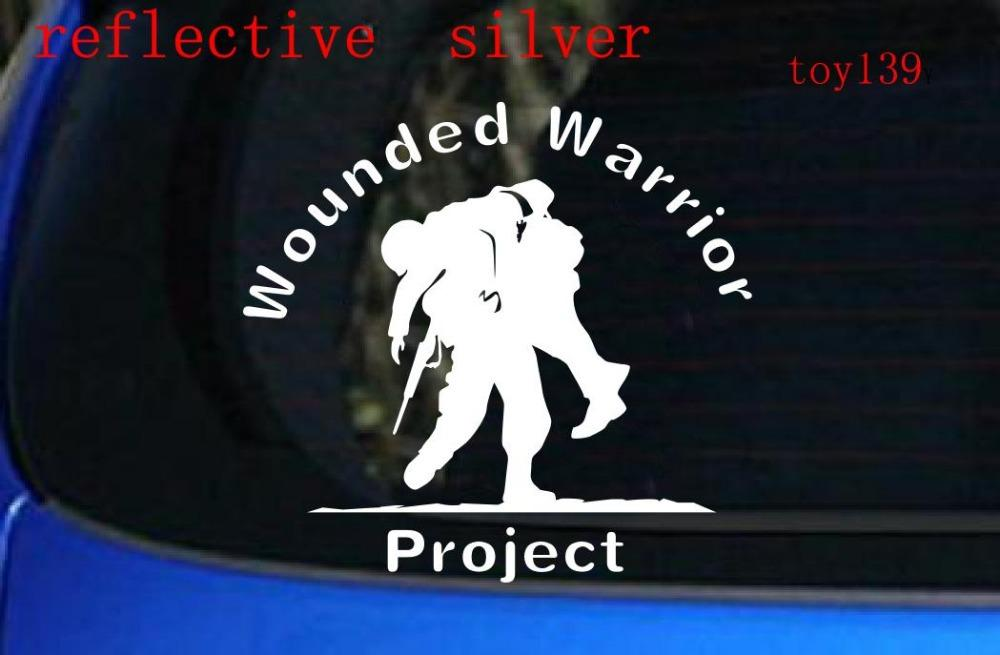 Wounded warrior project car window decal vinyl sticker soldier army marines usmc car window decal reflective stickers car decal car sticker decal online