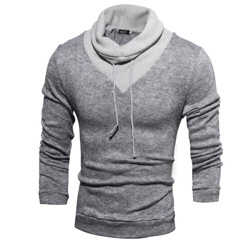 Acheter Vente Chaude Nouvelle Mode Hommes Chandails Pull Homme Chandail À  Col Roulé T Shirts Vêtements Pour Hommes Livraison Gratuite De  17.26 Du ... 1abf6980287f