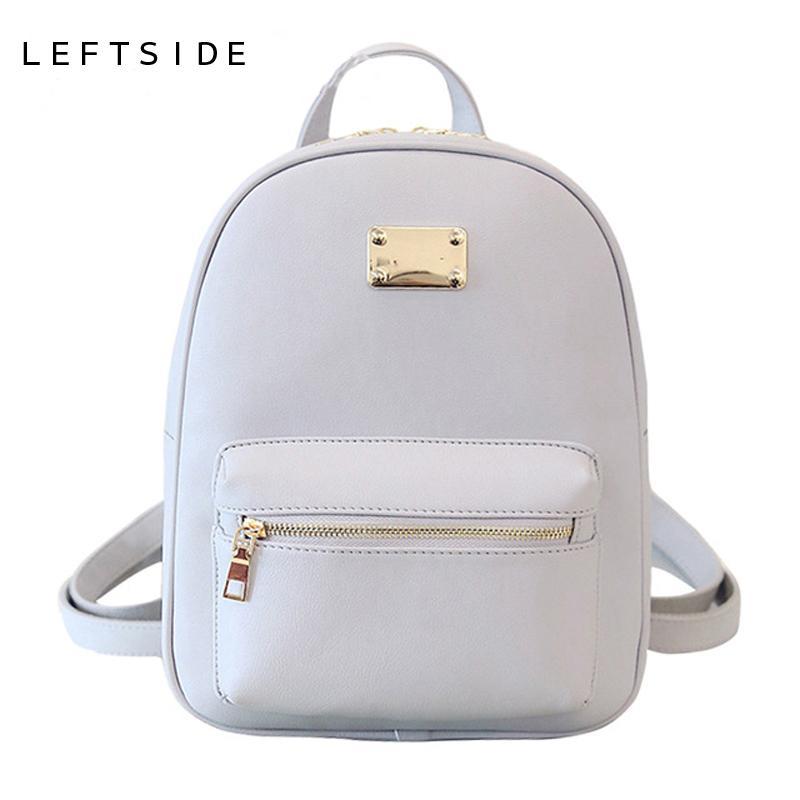 New Fashion Back Pack Women PU Leather Bag Packs Female Cool Classic  Backpacks Bookbag For Teenage Girls Bags 171103 Backpacking Backpacks  Personalized ... 2a0faa22a73c9