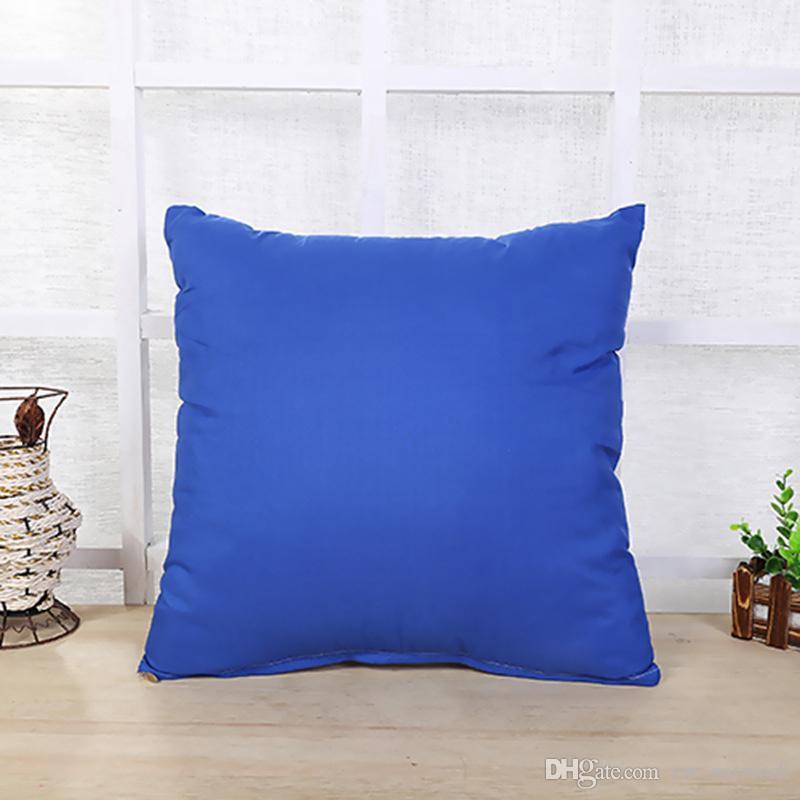 Katı renk atmak yastık kılıfı Çekin Peluş Kanepe arkalığı pillowslip 45 * 45 cm Yumuşak sağlıklı yastık yastık kapak ile fermuar şeker renkler kılıfları