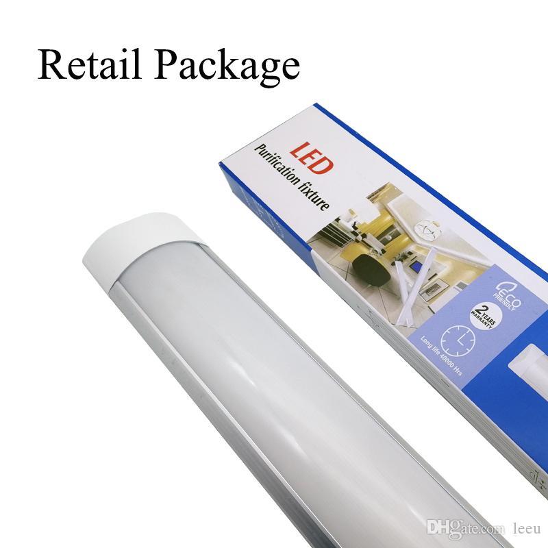 표면은 LED 판자 더블 행 튜브 조명 2FT 4FT T8 고정 장치 Purificati LED 트라이 - 증거 라이트 튜브 18W 36W AC 110-240V 탑재
