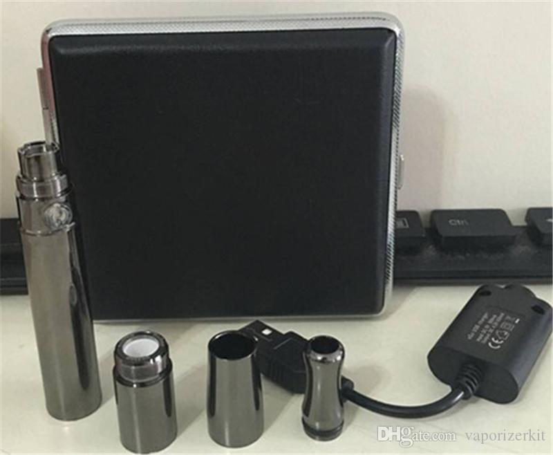 Puffco Vaporizer Skillet V2 Atomizzatore Quarzo Wax Vaporizzatore Clone con doppia pistola a spirale al quarzo Metallo Colore metallo Drip Tip batteria a 510 fili