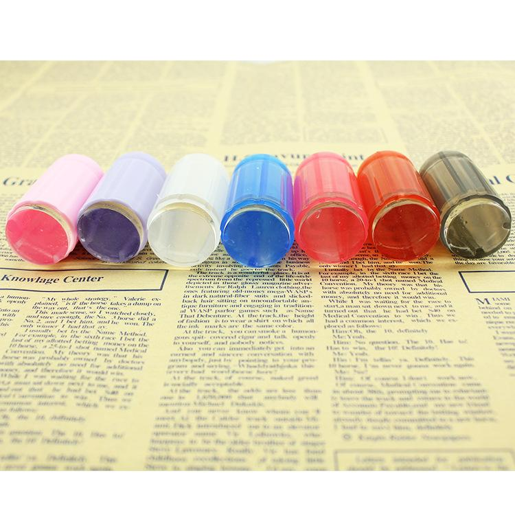 Nuevo Diseño Claro Claro Jalea de Silicona Nail Art Stamper Raspador con Tapa Transparente 2.8 cm Nail Stamp Stamping Tool