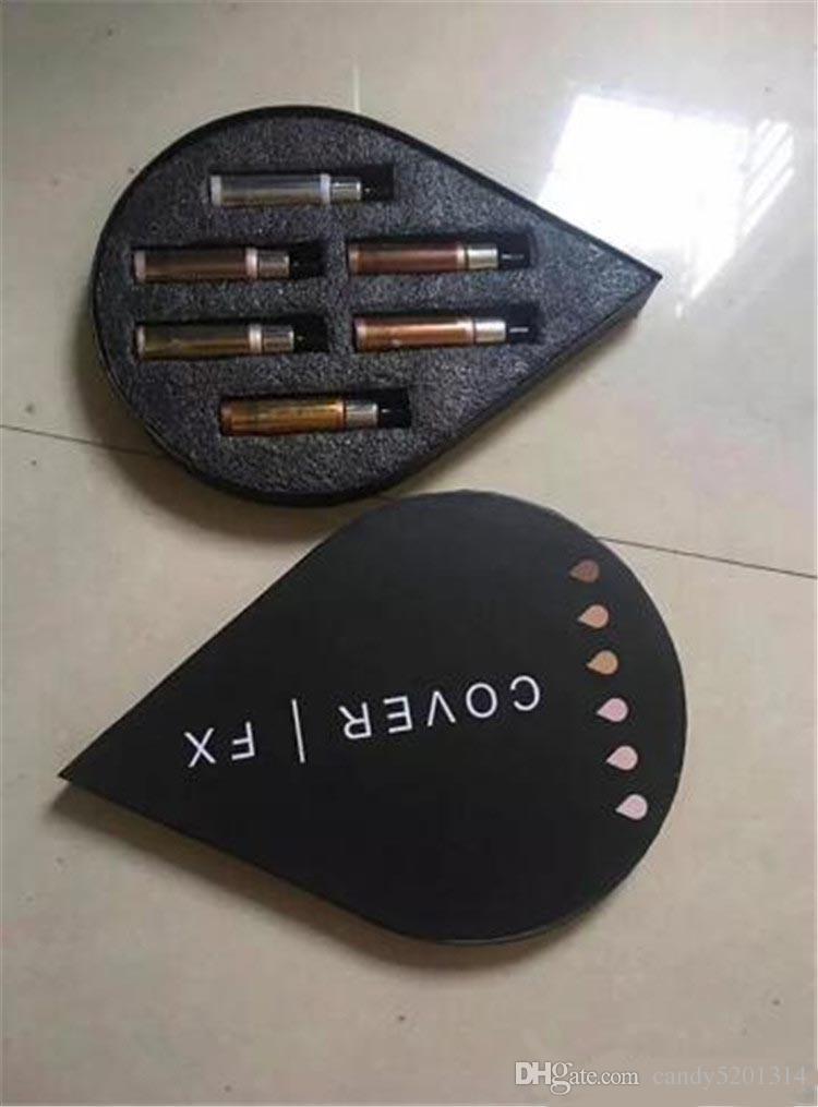 Cover FX 커스텀 향상제가 페이스 하이 라이터 파우더 메이크업 글로스 6 색 15ml 액상 형광펜 A08 세트 출시