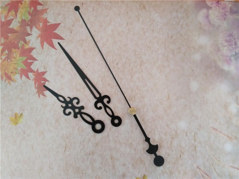 Groothandel 50 stks metalen zwarte handen voor mechanisme Kit DIY Uw muur Quartz klok