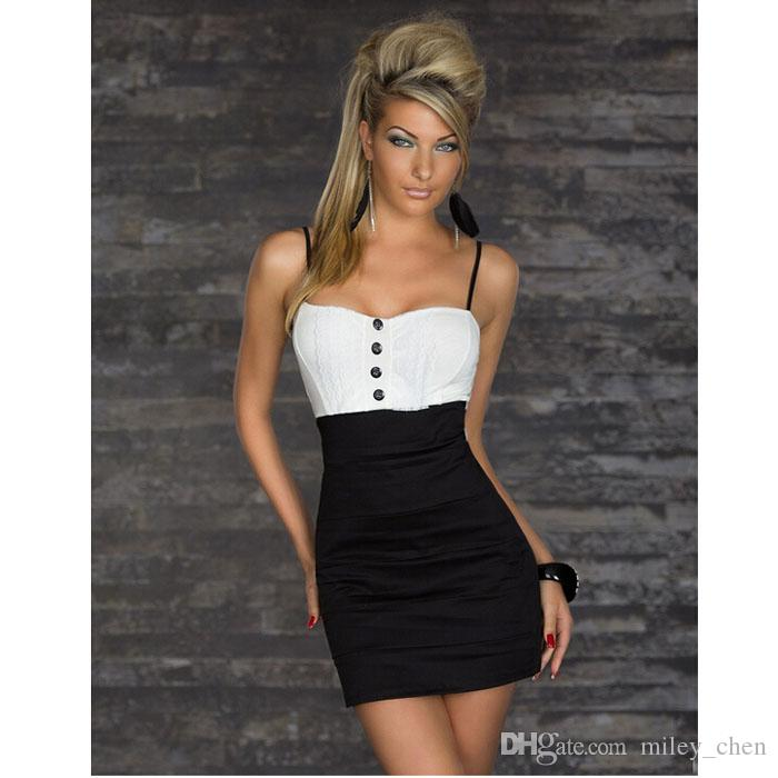 6cd35473670 Hot New Arrivals Lady Women Short Bodycon Mini Dress Skirts Polyester Fashion  Sexy Cocktail Party Evening Wear Little Black Dresses From Miley chen