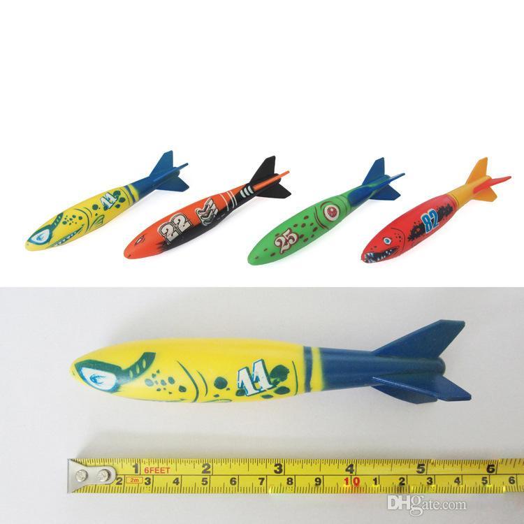 2016 summber Wasserspielzeug Unterwasser Torpedo Rocket Pool Spielzeug Schwimmen Tauchen Torpedo Werfen Spielzeug Beste Geschenke Für Kinder
