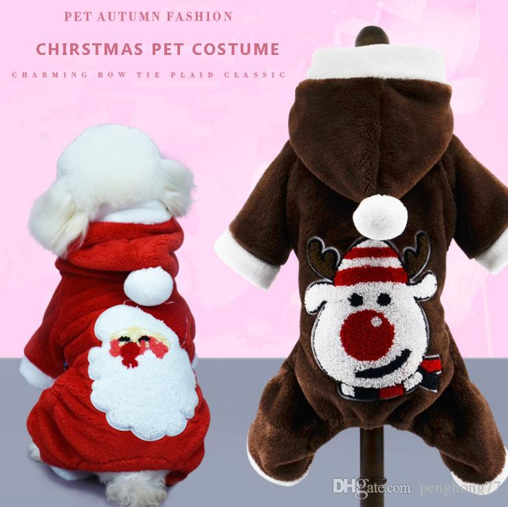 1017002 Creative funny Pet Dog Clothes Christmas Santa Claus reindeer Pumpkin Costumes Cute Puppy Cat Warm Winter Coat Clothing para perros