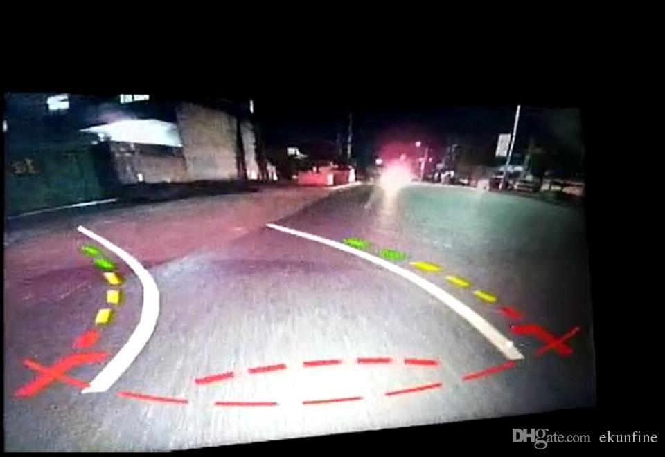 CCD Track line Car Rear View Camera For VW Tiguan Touareg Santana Passat Polo saloon Parking Camera Night Vision LED Light KF-V1162L