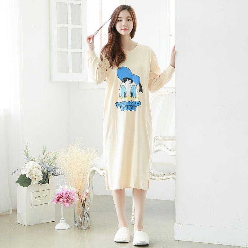 e61162e80e Wholesale- Winter Cotton Women Concise Style Robe Pocket Classic Long Nightgown  Sleepwear Sexy Night Dress Nightwear Lounge Gown Dress Skirt Dress Bandana  ...