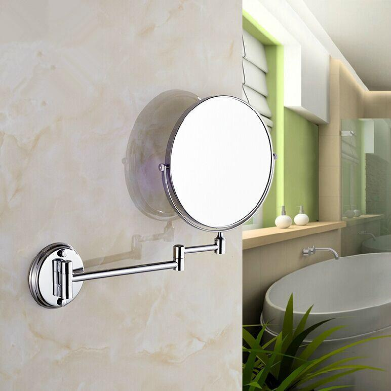 Cosmetic Makeup Mirror Bathroom Double Sides Folding Magnifying 13 Home Wall Decor For Women Men Round Fashion White Creative Design Bar Mirrors