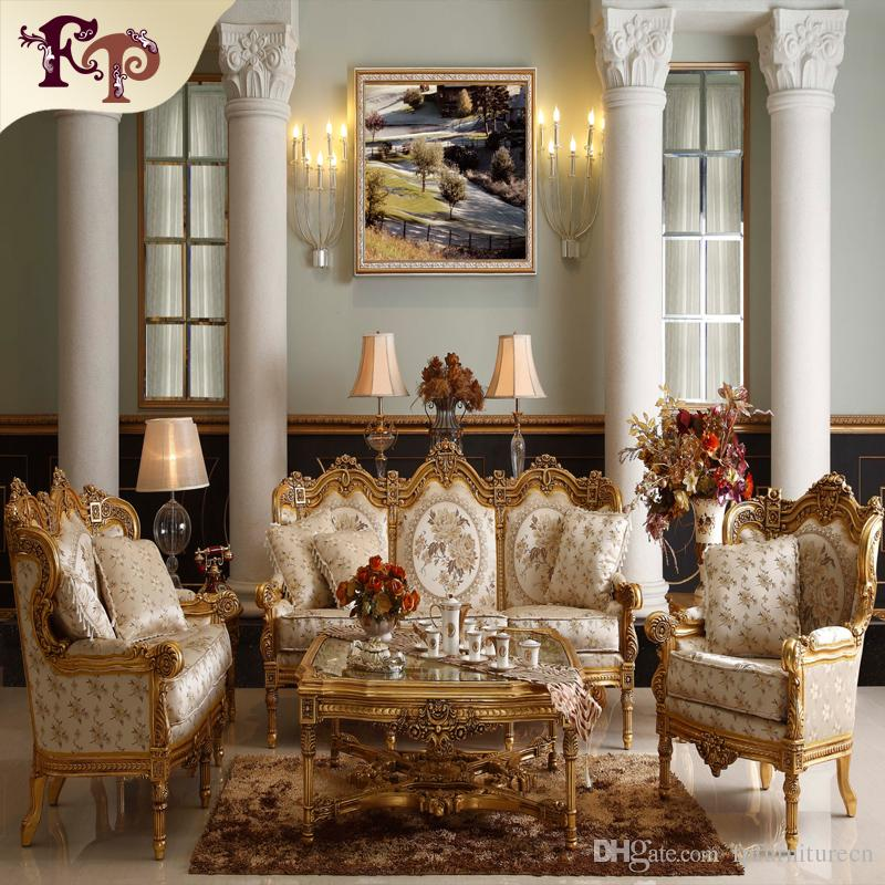 2018 Baroque Living Room Sofa Furniture Antique Classic Sofa Set ...