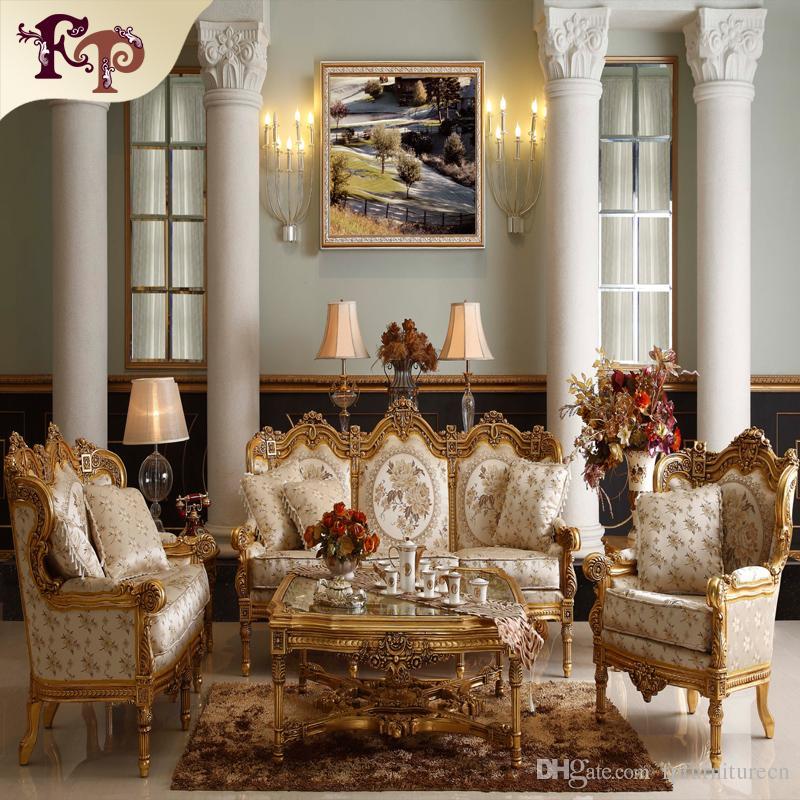Mobili soggiorno divano barocco-Antique Divano classico set Divano in stile  europeo