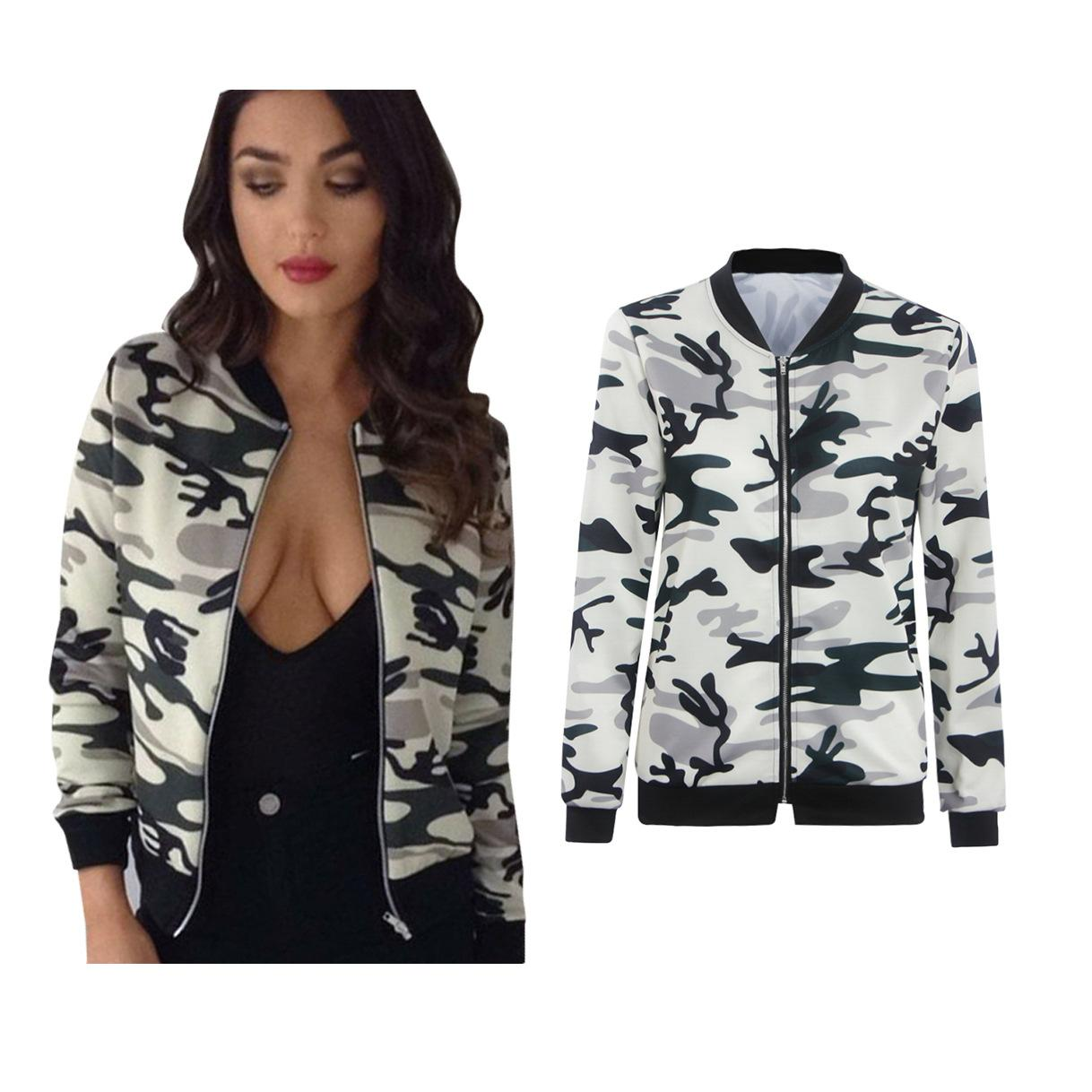 c877c39d9e0b7 Fashion Womens Ladies Biker Celebrity Tops Camo Flower FLoral Print Bomber  Jackets Camo Outfit Outwear Coat Kids Leather Jackets Cheap Jackets From ...